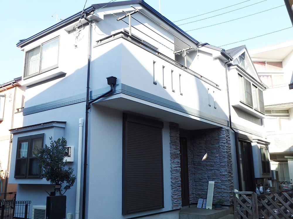 川崎市 T様邸 外壁塗装 完成